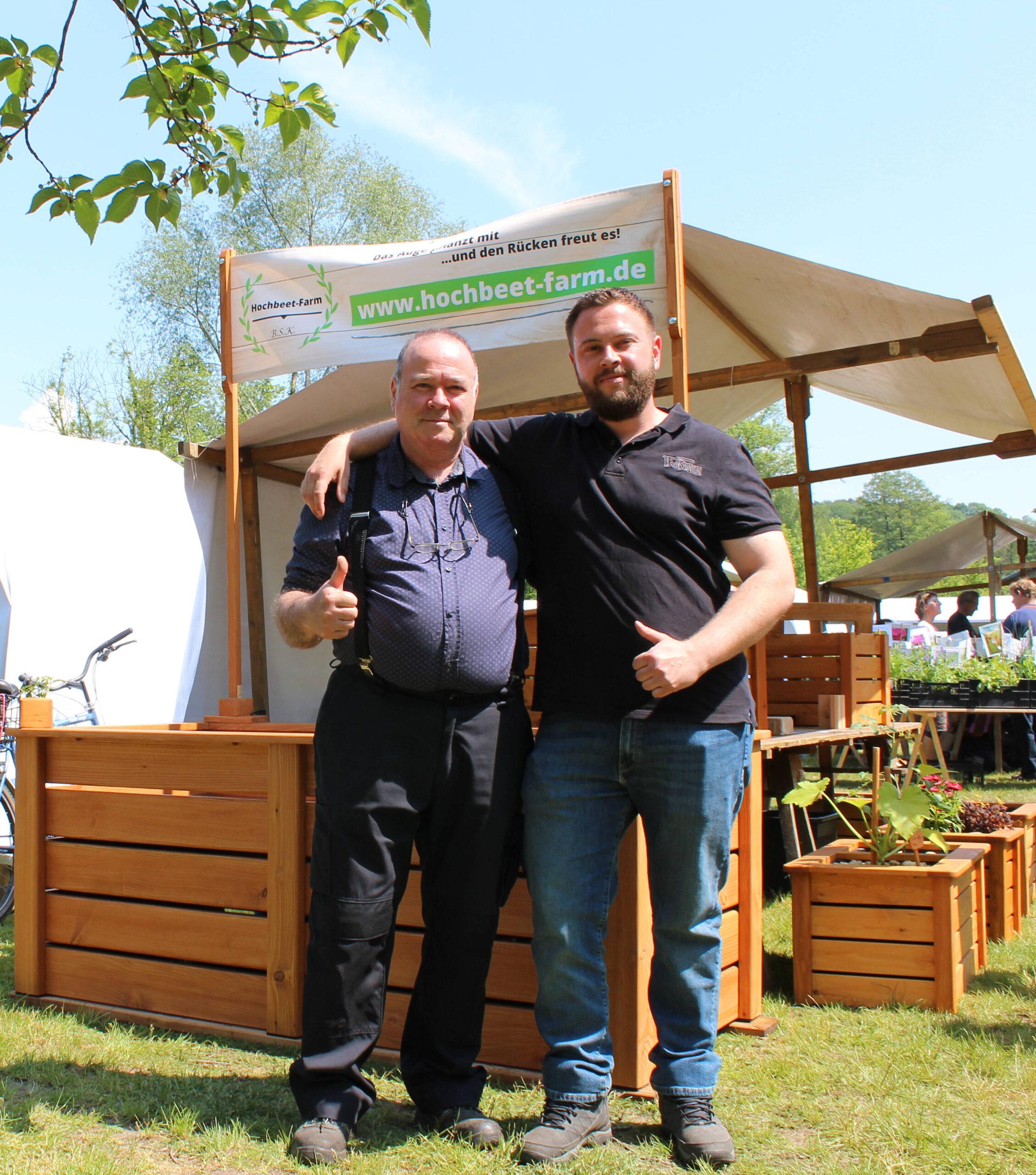 Sascha Klotzbach, Messestand, Buckower Gartentag