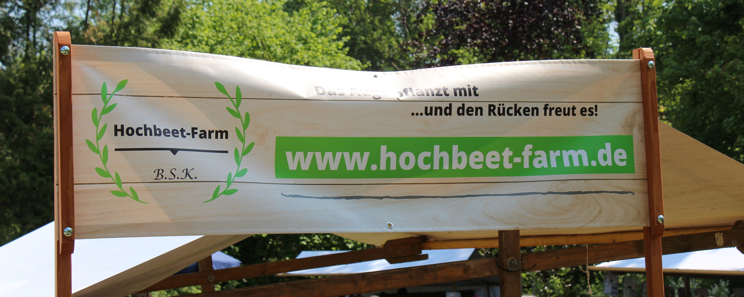 Hochbeet-Farm Banner, Buckower Gartentag